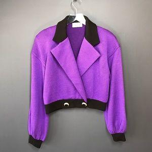 St. John by Marie Gray Vintage Purple Crop Blazer